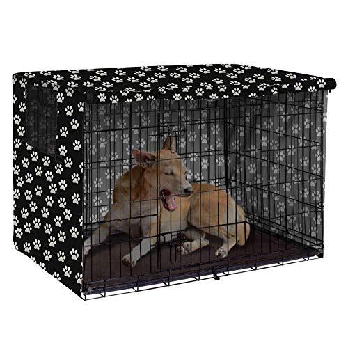 Pethiy Funda de poliéster para Caja de Perro, Resistente al Viento, Cubierta para Jaula de Alambre para Interior y Exterior, Solo Funda