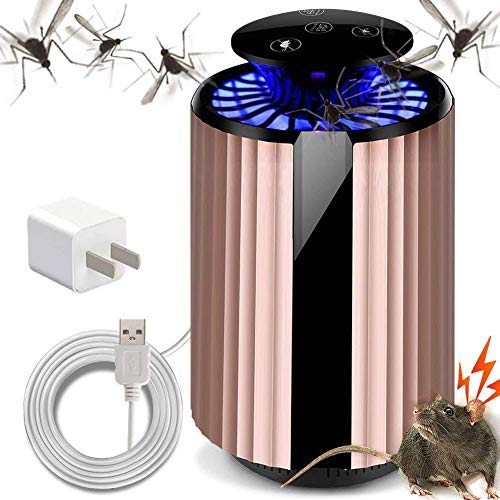 2 in 1 LED Mosquito Killer lamp USB opladen, Electronic Insect Killer, Muizen Repellent, Insect Trap for Indoor Outdoor baby Bedroom QIANGQIANG