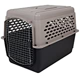 Petmate 21950 Vari Kennel Heavy-Duty Dog Travel Crate No-Tool Assembly, 70-90 lb., Bleached Linen