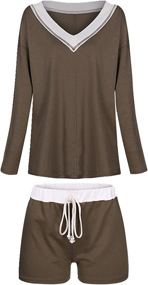 NP Women's Sportswear Casual Comfortable Splice Shorts Set Two-Piece Suit