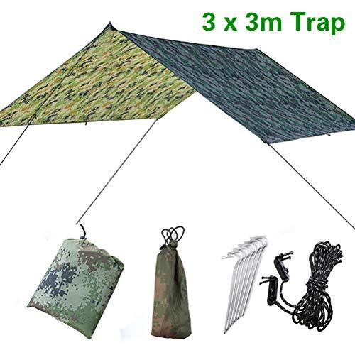 Doofang Camping Bâche Anti-Pluie Rain Tarp Toile...
