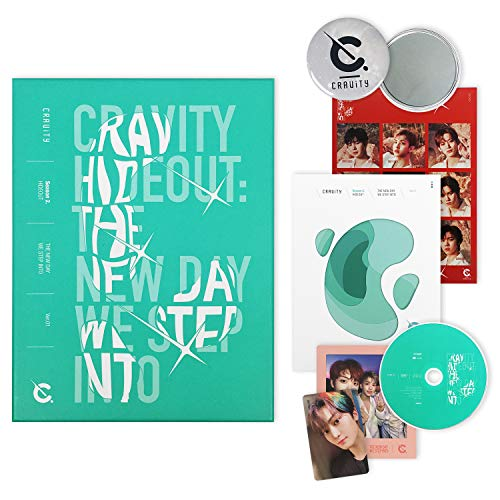 CRAVITY Season2. Album - HIDEOUT : The New Day We Step Into [ Ver. 1 ] CD + Photobook + Photo Cards + Sticker + FREE GIFT / K-POP Sealed