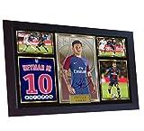 SGH SERVICES Poster Neymar Paris Saint Germain, gerahmt,