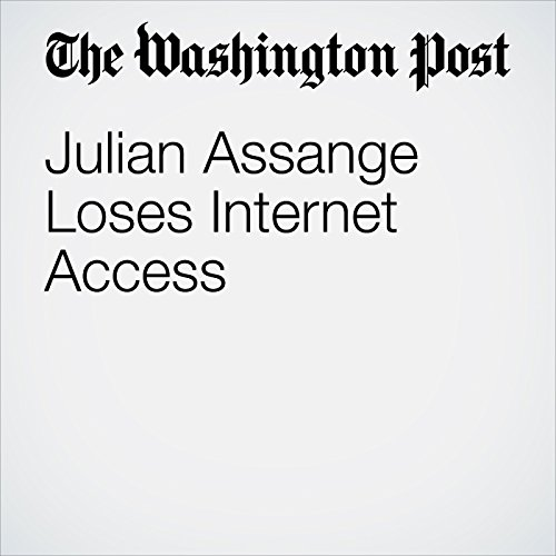 Julian Assange Loses Internet Access copertina