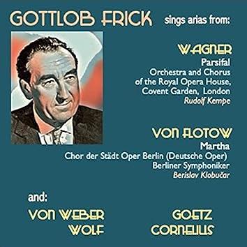 Gottlob Frick sings arias from: Parsifal · Der Freischütz · Der Corregidor · Der Widerspenstigen Zähmung · Martha · Der Barbier Von Bagdad