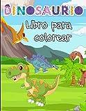 Dinosaurio libro para colorear: Un libro para colorear con animales prehistóricos en escenas | Para...