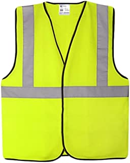Reflective vests High Visibility Vest Safety Vest, Breathable Safety Night Uniforms Reflective Safety Vest Fluorescent Yel...