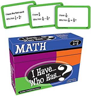 Teacher Created Resources I Have... Who Has...? Math 4-5 (7833) [並行輸入品]