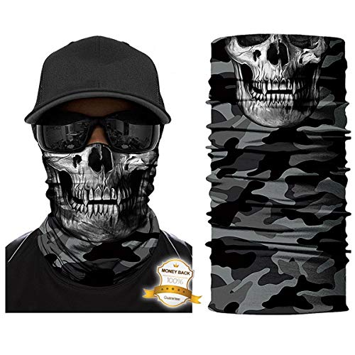 ECOMBOS Multifunktionstuch Kopfbedeckung Nahtlos Atmungsaktiv Sport Reiten Sonnencreme Headwrap Schlauchtuch Halstuch Bandana Ski Motorrad