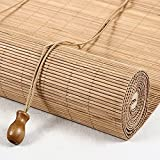 LLPEIJIE026 Tenda a Rullo in bambù retrò,Cortina di bambù,Tenda di bambù,Veneziana per Finestre,Parasole per Parasole per Balcone, per Esterno/Interno, Facile da Installare (120x160cm/47x63in)