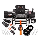 Rhino Carbon Series Electric Winch 6125 Kg - Wireless Remote Control 12V - Steel Cable