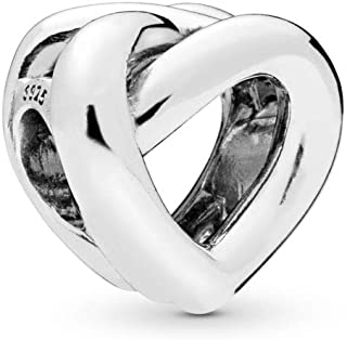 PANDORA Knotted Heart 925 Sterling Silver Charm - 798081
