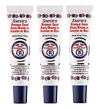 Rosebud Perfume Co Original Rosebud Salve Tube Three Pack - Moisturizes and Protects Lips - Soothes Irritation and Dry Skin - 3 x 0.5 oz Tubes