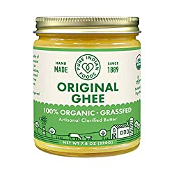 Grassfed Organic Ghee 7.8 Oz - Pure Indian Foods(R) Brand : Baking And Cooking Ghee