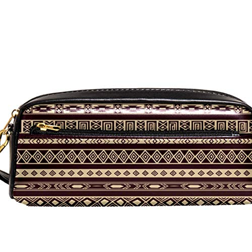 Yitian African Rug Pattern Pencil Case with Compartments Stationery Pouch Pen and Pencil Organiser Make-up Case for Children Girls for School