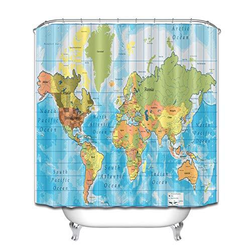 Aliyz Carte du Monde thème Maison hôtel décoration de Salle de Bain