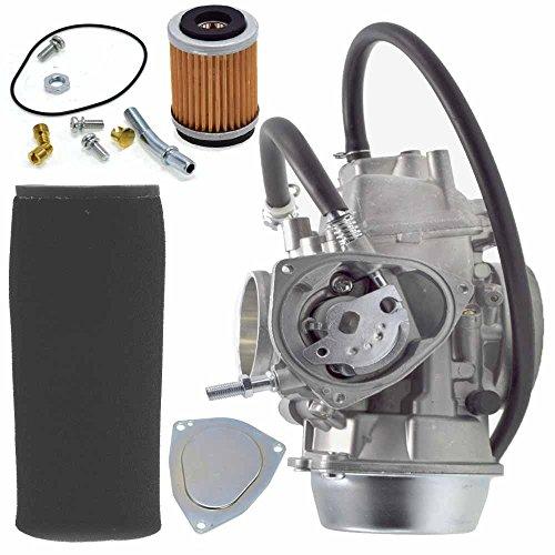 YFM660F Carburetor w/Air Filter Oil Filter for Yamaha 1998-2000 Grizzly 600 4x4 YFM600FW 2002 2003 2005 2006 2007 2008 YFM660F Grizzly 4x4