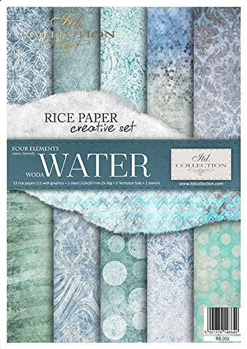 ITD Collection - Reispapier Kreativset A4 Decoupage Rice Paper Sheet 29,7 x 21 cm Serviettentechnik...