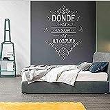 Vinilo decorativo extraíble palabras talladas online y original 12x24cm