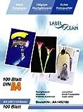 LabelOcean Pack de 100 feuilles de papier photo brillant et résistant à l'eau A4 180g/m²
