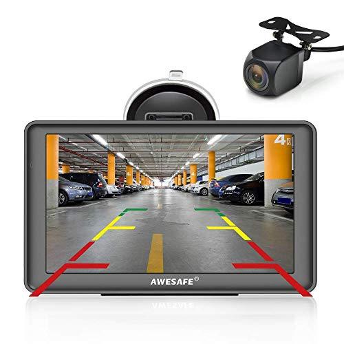 GPS para coches AWESAFE GPS con cámara trasera
