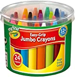 2 x Easy Grip Jumbo Crayons designed for Toddlers, Pack of 24, 81-8104