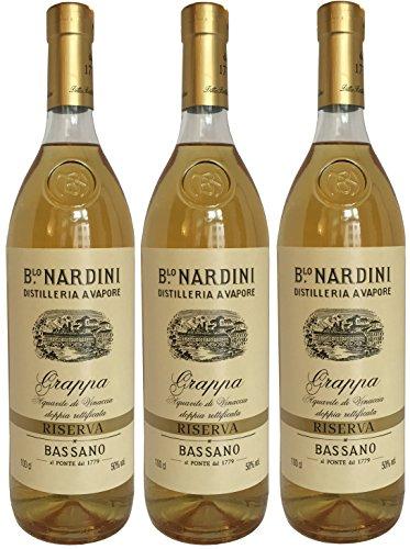 Grappa NARDINI Riserva (3 x 1L) - Bassano - 50% Vol.