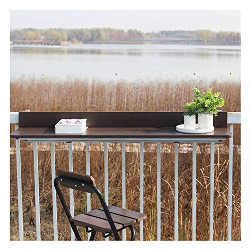 Mesa plegable con barandilla para exteriores, escritorio colgante para computadora, balcón, mesa...