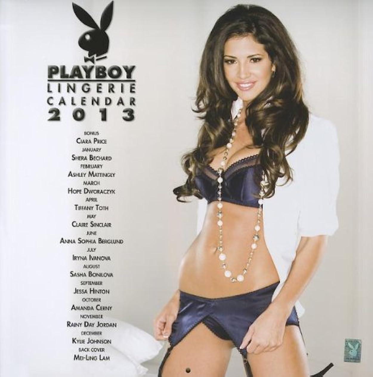 コンセンサス捕虜研究所Playboy Lingerie Calendar 2013