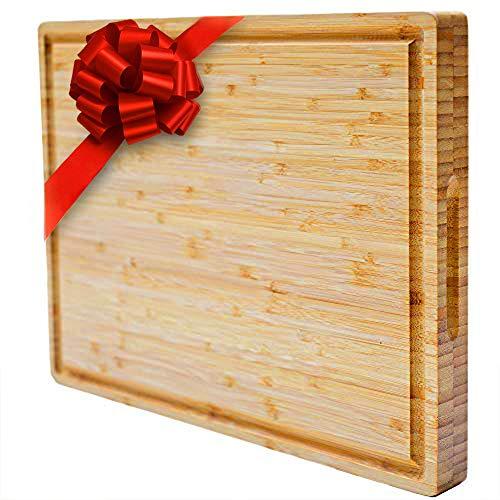 PREMIUM Butcher Block | Bamboo Cutting Board | X-Large | Organic | Size 17''x13''x1.5''