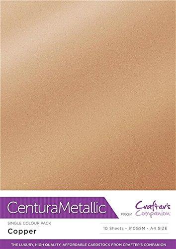 Centura Metallic Einfarbige Kupfer 10 Bogenpacken-Copper, Cardstock, 34.4 x 22.5 x 0.5 cm