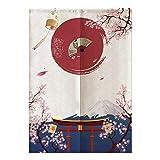 Gonnely Cortina de Estilo japonés para habitación de niños, Dormitorio, Cocina, Tienda, Restaurante, Puerta, Media Cortina, 85 * 120 cm