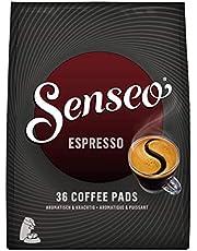 SENSEO Koffiepads Espresso (360 Espresso Pads, Intensiteit 09/09, Sterke Dark Roast Espresso Koffie), 10 x 36 SENSEO Pads