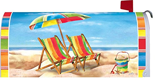 Summer Beach Chairs Magnetic Mailbox Makeover Cover