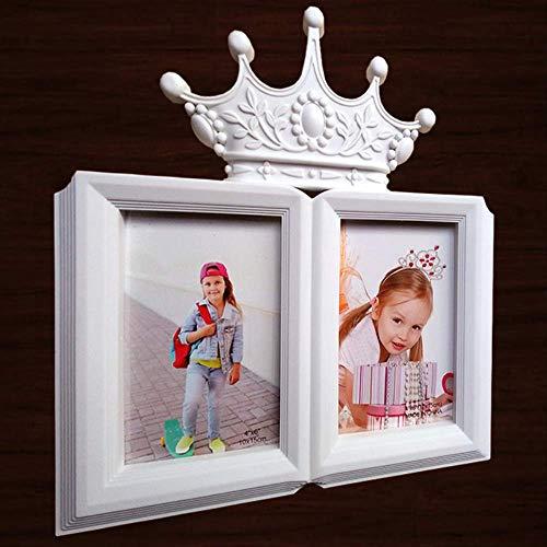 YKDDII Fotolijsten Fotolijst Voor Kinderen Baby Foto's 2 Opening Frame Op Tafel Thuis Decoratie Klassieke Mode Multifunctionele Fotolijst