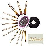 Johiux 12 Pcs Brochas de Maquillaje, Set Profesional Brochas de Maquillaje, Maquillaje de Ojos, Rubor, Contorno, Corrector, Pinceles Cosméticos.