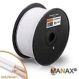 MANAX SC2075 Câble d'enceinte 2x0.75 mm² CCA (Câble d'enceinte/Câble Audio), 2x0,75mm², 100m,...