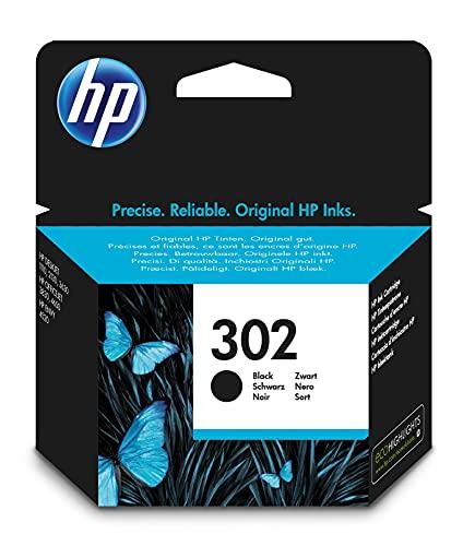 HP 302 F6U66AE Cartuccia Originale, da 190 Pagine, per Stampanti HP DeskJet Serie 1100, 2130, 3630, 5200, HP Envy Serie 4520 e HP OfficeJet Serie 3830 e 4650, Nero