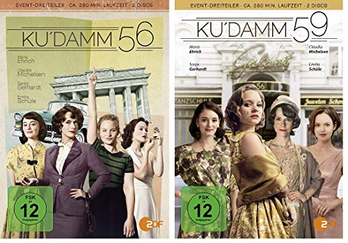 Ku´damm 56 + 59 DVD im Set - Deutsche Originalware [4 DVDs]