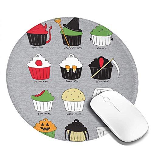 Alfombrilla de ratn redonda para disfraz de magdalena, suave, de doble cara, impermeable, control rpido y preciso para juegos y oficina, 19 x 19 cm