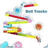 EPCHOO Baby Badespielzeug, Badewannenspielzeug Autorennbahn Wasserspielzeug mit Wasserrad und Bälle...