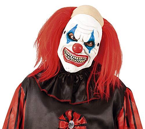 Rubies Máscara Payaso Chalado PU, Multicolor, STD para Hombre