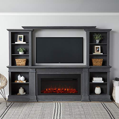Real Flame Monte Vista Electric Media Fireplace, Antique Gray