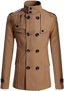 Sunward Coat for Men,Men's Casual Trench Coat Business Long Slim Overcoat Jacket Outwear