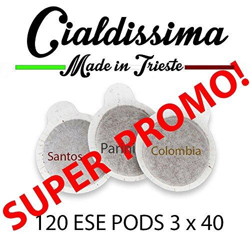 Cialdissima ESE Kapseln, verschiedene Mischungen, 120 Stück