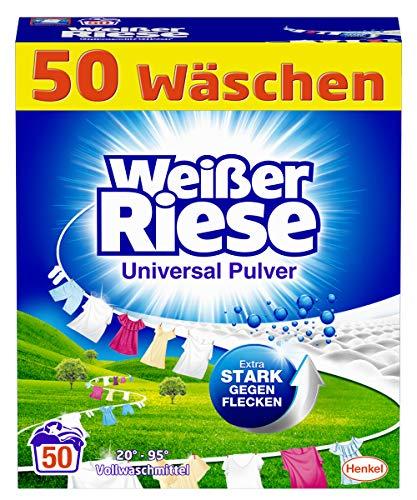 Weißer Riese Universal Pulver, Vollwaschmittel, 50 Waschladungen, extra stark gegen Flecken