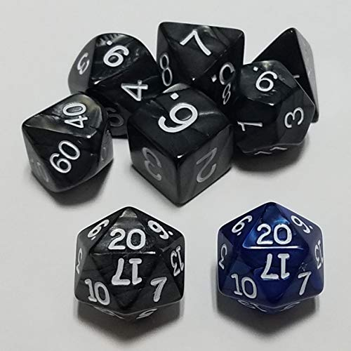 quEmpire Gaming Dungeons and Dragons 5E Dice Set with Extra d20 for Advantage & Disadvantage