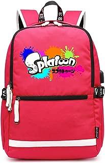 Zaino Zaino Rosa Bianco trendy Kids School travel Signore Ragazze BAG