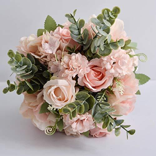 weichuang Modet Boho - Ramo de flores para boda, accesorios de matrimonio, pequeños ramos de novia, rosas de seda para damas de honor, decoración del hogar, sosteniendo flores (color: rosa)