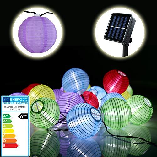 4. Bunte Solar Lichterkette